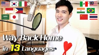 Way Back Home (SHAUN 숀) 1 Guy Singing in 13 Different Languages - Cover by Travys Kim