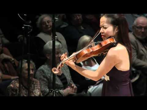 Ning Kam plays an encore of Bach Sarabande in D minor for solo violin, live at Antwerp De Singel