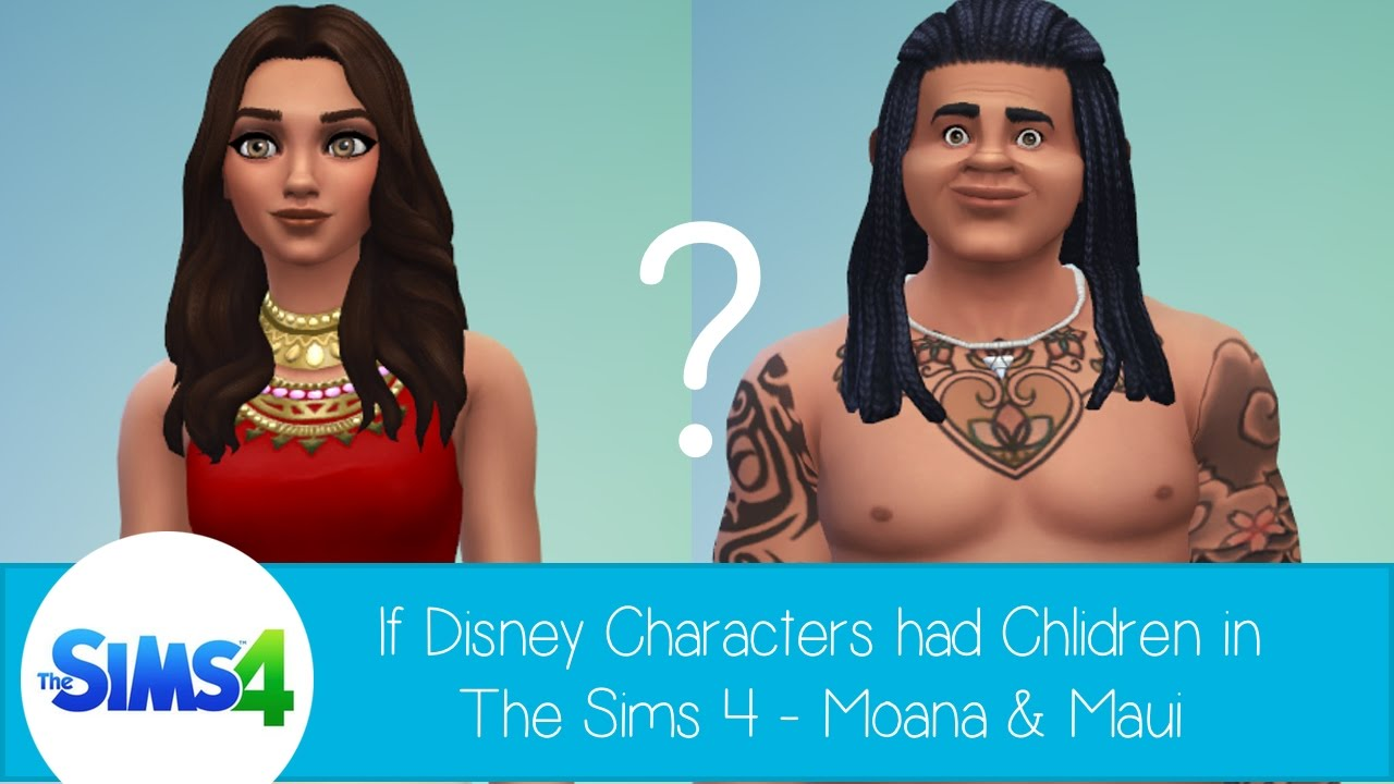 If Disney Characters Had Children in The Sims 4: Moana & Maui