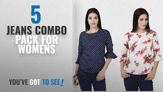 Top 10 Jeans Combo Pack For Womens [2018]: Tulip Casual Bell Sleeve Printed Women