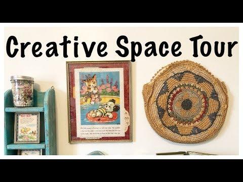 Craft Room Tour: Organizing Journal Supplies: Studio Tour