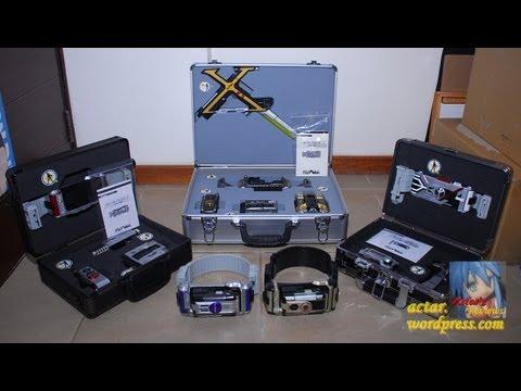 All Kamen Rider 555 DX Rider Gear & Gear Box Showcase (Faiz Kaixa Delta Psyga Orga)