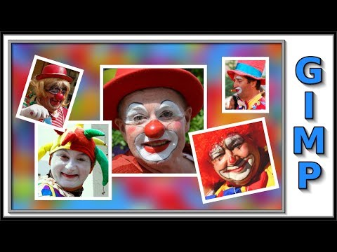 Gimp: how to make a photo collage