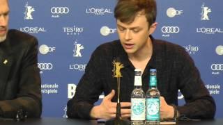 Dane DeHaan on James Dean (w/ Robert Pattinson) LIFE press conference BERLIN 2015