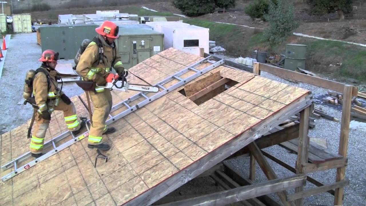 Vertical Ventilation Off Roof Ladder Youtube