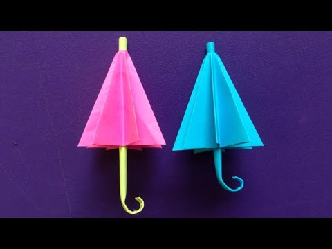 How to make a paper umbrella | Easy origami umbrellas for beginners making | DIY-Paper Crafts