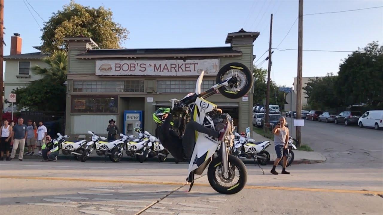 Husqvarna ride out un manouche en californie 1 youtube - Boutique 100 bitume ...
