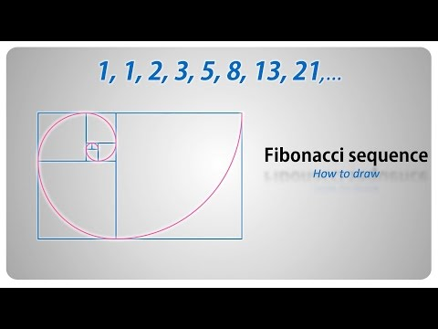 How to draw - the Fibonacci sequence / golden spiral  - step by step tutorial (english)