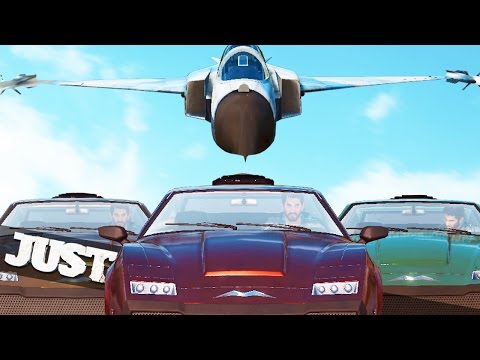 JUST CAUSE 3 MULTIPLAYER JET VS NUCLEAR BOMB CARS!!! :: Just Cause 3 Multiplayer Funny Moments!