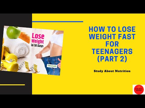 How To Lose Weight For Teenagers (Part 2)|| Guidelines