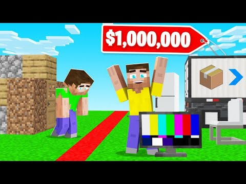 MOVING Into My NEW MINECRAFT HOUSE! (my Friends Were Jealous)
