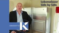 Side by side Kühlschrank - Wie lange ist der Lebensdauer von einem Side by Side Kühlschrank?