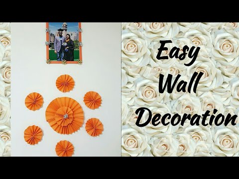 easy-wall-decoration-with-paper-|-simple-diy-room-decor-|-paper-craft-ideas-for-home-decorations
