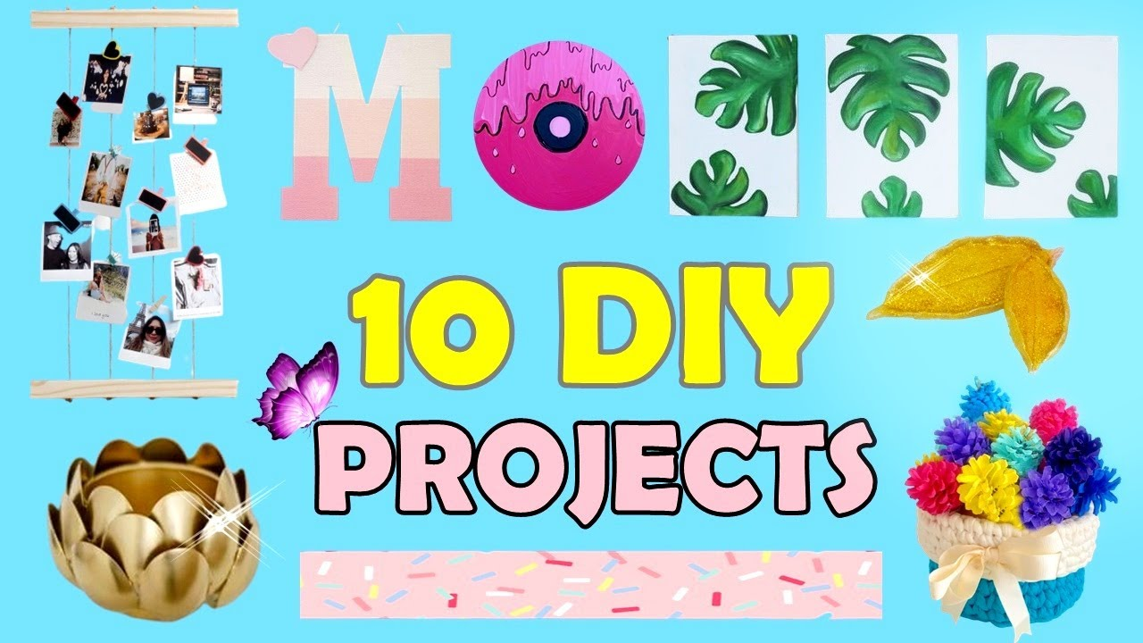 10 Things To Do When You're BORED & Stuck At Home - Home Decor and more Crafts Idea