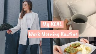 WORK MORNING ROUTINE: GRWM for My 9-5 Job!