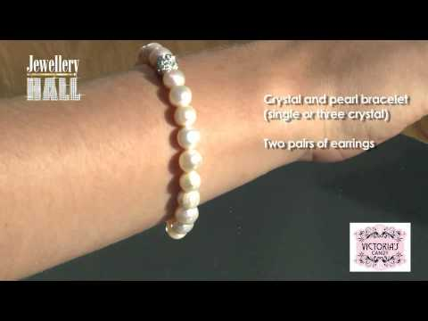Freshwater Pearl & Crystal Bracelet Set