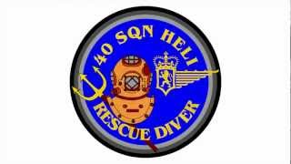 SAR DIVER 40 Squadron Heli : 3D Badge Animation