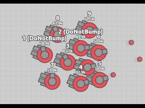 Diep.io - Playing 10 Auto Gunners at once (Multiboxing)