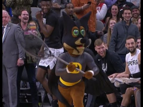Bat Interrupts Spurs Game and Terrifies Players, Mascot Saves the Day