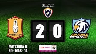 TPL 2014 - Bangkok Glass 2 - 0 Air Force United FC (30-03-2014)