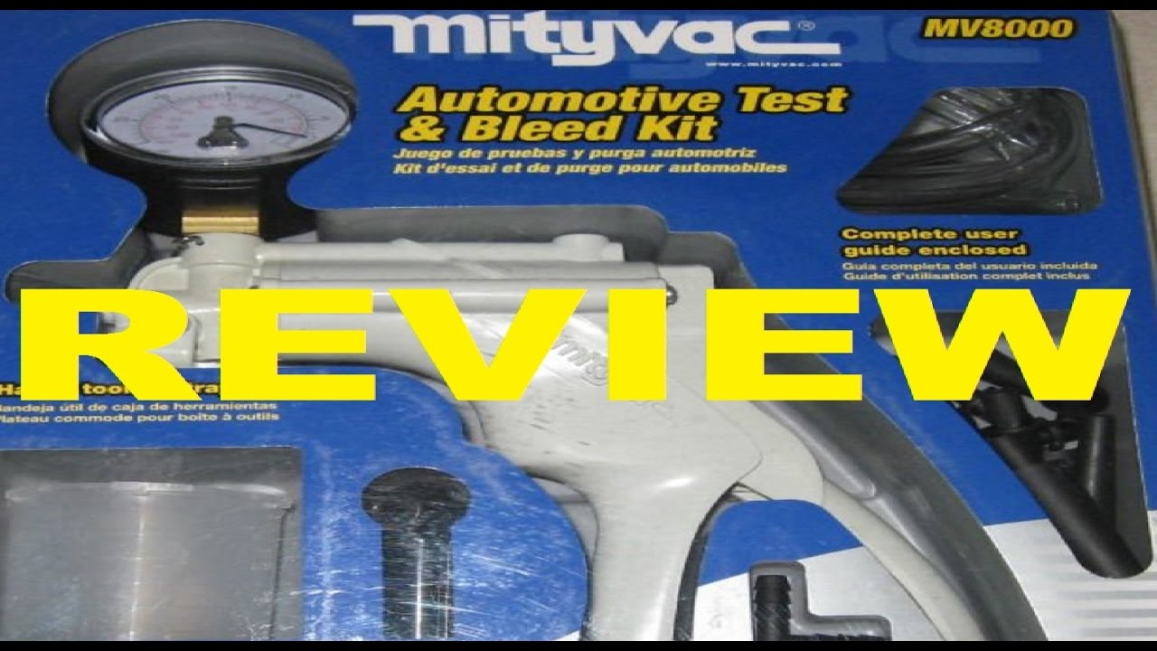 Mityvac MV8000 Coffret de Test et Purge Automobile