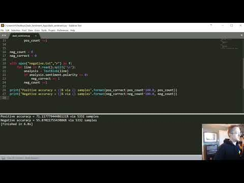 Sentiment Analysis Python - 9 - Installing NLTK | Tokenization and Stop wordsиз YouTube · Длительность: 6 мин42 с