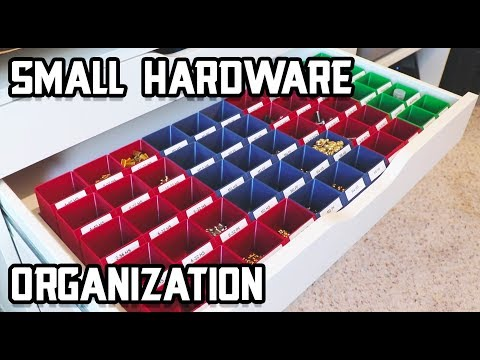 Small Hardware Organization - 3D Printed Containers