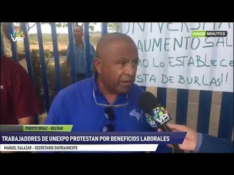 Venezuela - Trabajadores de la Unexpo sede Bolívar exigieron aumento salarial - VPItv