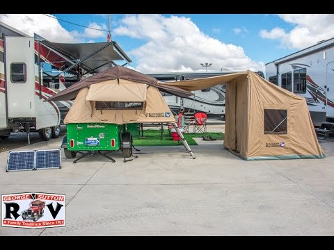 & SOLAR POWER GENERATOR TENT TRAILER! - YouTube