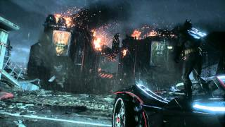 Batman: Arkham Knight - ACE Chemicals: Batmobile Escape Sequence ACE Chemicals Destroyed Cutscene