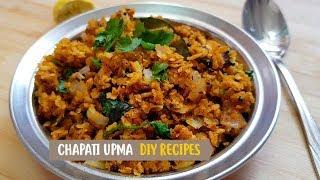 Chapati upma recipe | Leftover chapati snacks | How to make leftover chapati upma | DIY Recipes