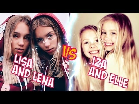 Lisa and Lena VS Iza and Elle l Battle Musers l Musical ly Compilation
