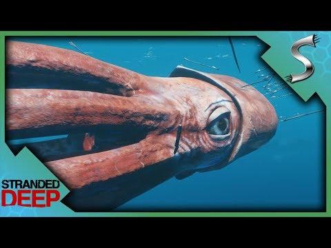 KRAKEN BOSS FIGHT! GIANT SQUID GRABS ME OFF THE BOAT! - Stranded Deep [Gameplay E16]