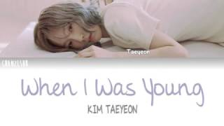 [3.52 MB] TAEYEON - When I Was Young (Indo Sub) [ChanZLsub]