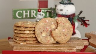 White Chocolate Peppermint Cookies | 12 Days of Xmas Baking | sweetco0kiepie