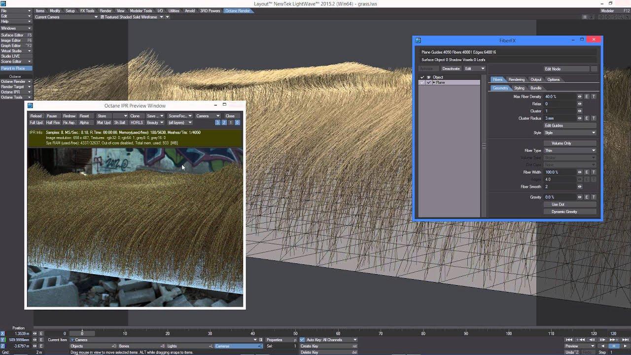 octane render for lightwave fiberfx in octane render youtube rh youtube com Lightwave Character Anime Lightwave