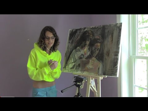 Soft Spoken ASMR Painting | Developing the Love Scene