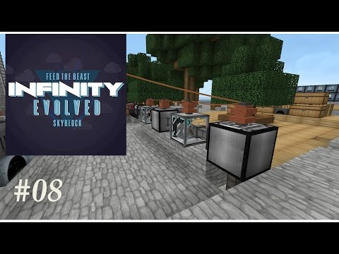 FTB Infinity Evolved Skyblock - Auto Compressor & Auto Compressed Hammer Ep8