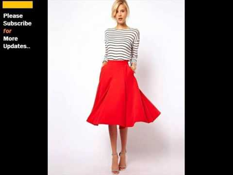 Long Red Skirt | Long Skirts For Women Romance - YouTube