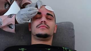ASMR 100% Real HUGE Eyebrows Plucking / Tweezing And Shaping