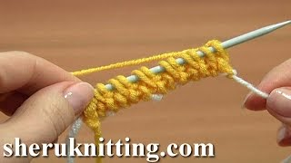 Knit Invisibe Cast On How to Tutorial 1 Part 16 of 18 Waste Yarn Cast On Method