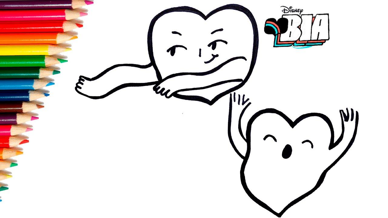 Aprende A Dibujar Y Colorear Los Stickers De Bia Disney