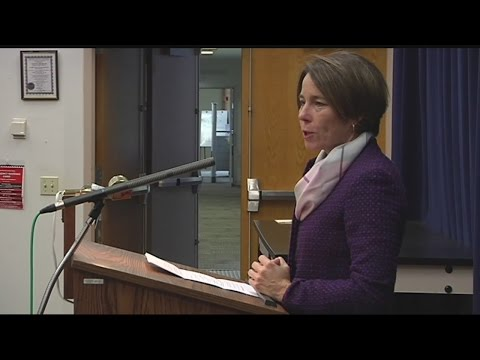 AG Healey speaks to Greenfield Community College students