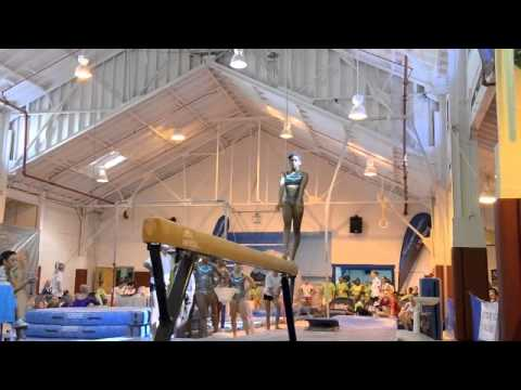 Bermuda Gymnasts Beam Event At Island Games, July 16 2013