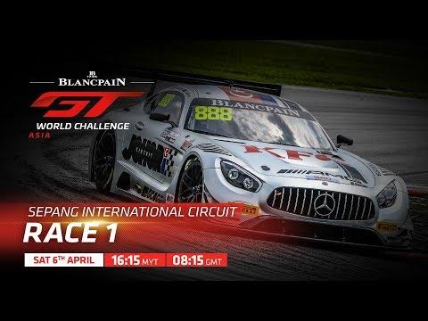 RACE 1 - SEPANG - Blancpain GT World Challenge Asia 2019 LIVE