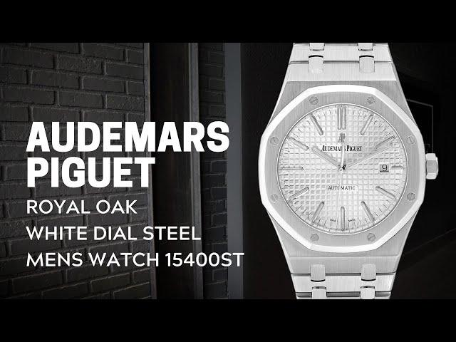 Audemars Piguet Royal Oak White Dial Steel Mens Watch 15400ST Review | SwissWatchExpo