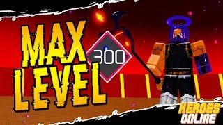 Reaching Max Level! | Best Way To Reach Level 300 in Heroes Online in Roblox | iBeMaine