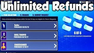 How To Get *UNLIMITED* REFUNDS in Fortnite! NEW METHOD! - NO REFUND LIMIT FORTNITE SEASON 5!