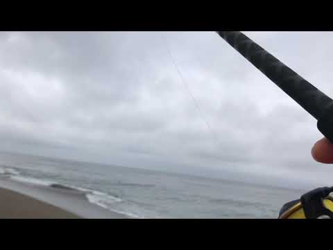 Fishing On A Rainy Day At Point Reyes.