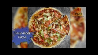 How To make Pizza || Homemade Chicken Pizza Recipe By Desi Chef